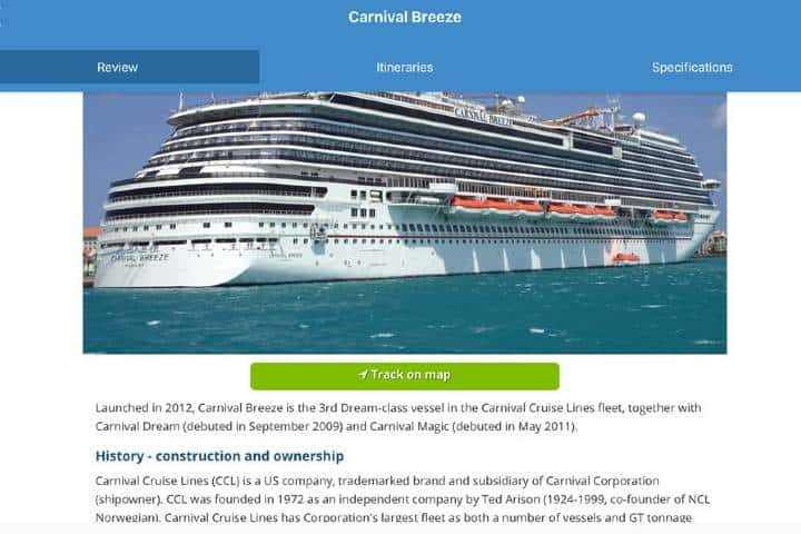 Puedes ver información completa de todos los cruceros Foto: Archivo