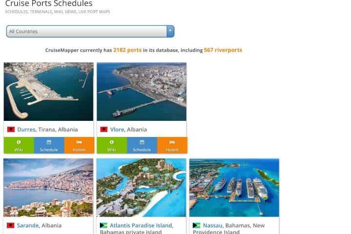 Todo lo que quieres saber sobre los cruceros, reservaciones y más información lo tiene la app Cruise Mapper Foto: Archivo