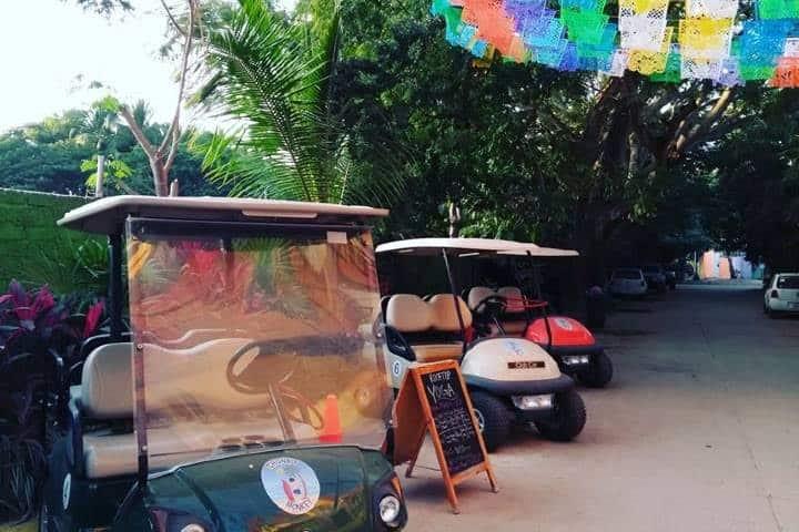 Renta un carro de golf para pasear por Sayulita Foto: Archivo