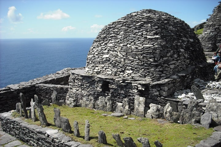 El cementerio de Skellig Michael. Foto: Archivo.