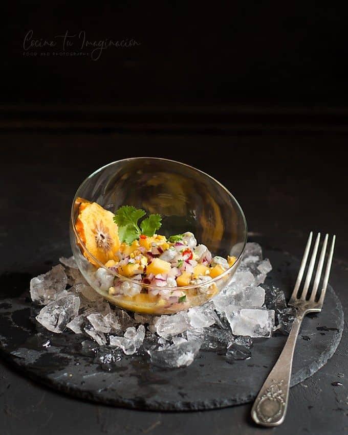 Ceviche de langostinos – Foto Kaki Persimon