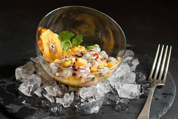 Ceviche de langostinos - Foto Kaki Persimon