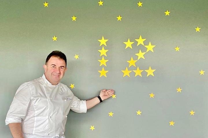 Chef Martín Berasategui con sus 12 estrellas Michelín. Foto: Martin Berasategui.