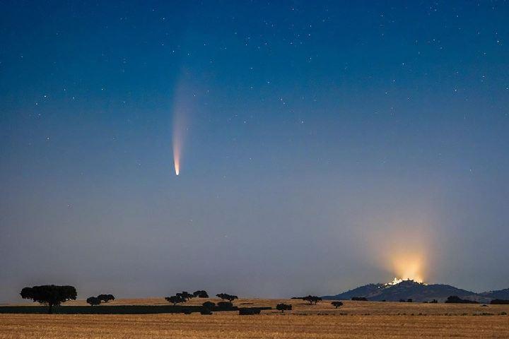 El cometa Neowise desde Alqueva. Foto: DSA.