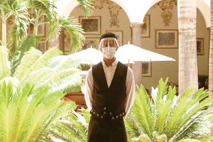 El personal brinda la seguridad a todos los habitantes Foto Hotel Solar de las Ánimas