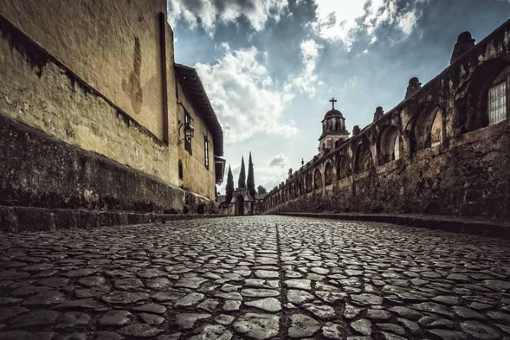 Hermosa calle en Michoacán. Foto: Flickr