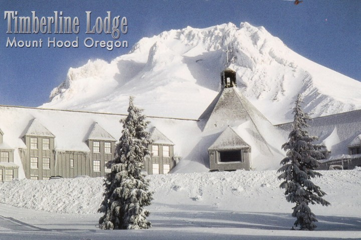 Hotel Timberline Lodge en Invierno. Foto Angela Gonzalez.
