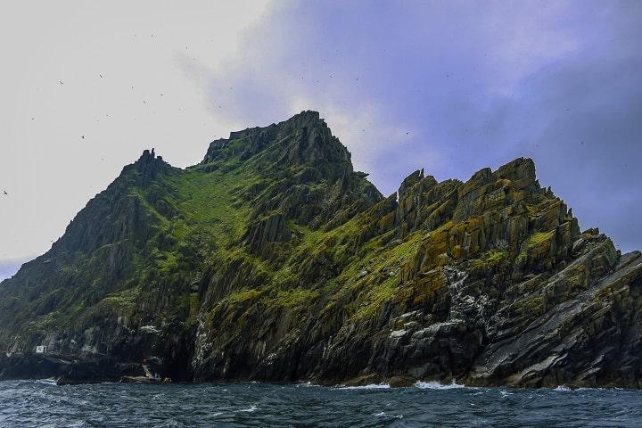 La siempre verde isla Skelling Michael. Foto: Kaimoster.