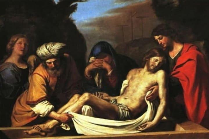 José de Arimatea con el cuerpo de Jesucristo. Foto: Primeros Cristianos.