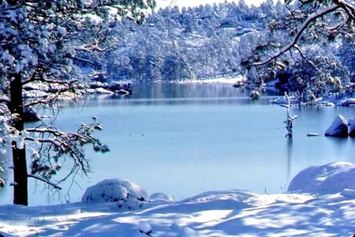 Lago Arereko congelado