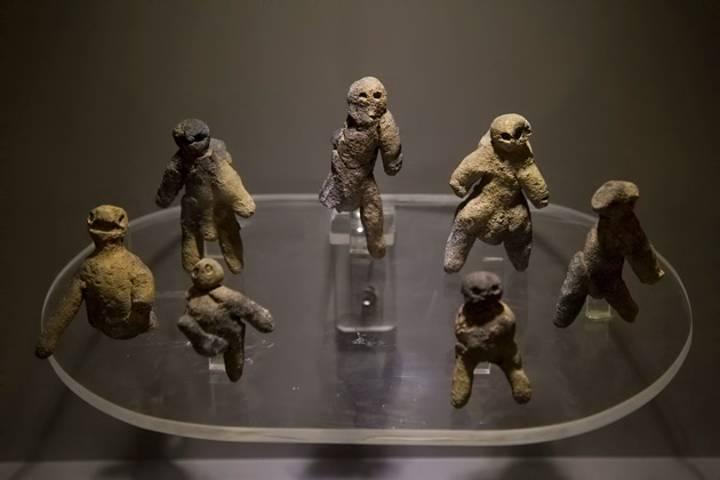 Las 7 Muñecas encontradas en el Templo del Sol. Foto: Flickr