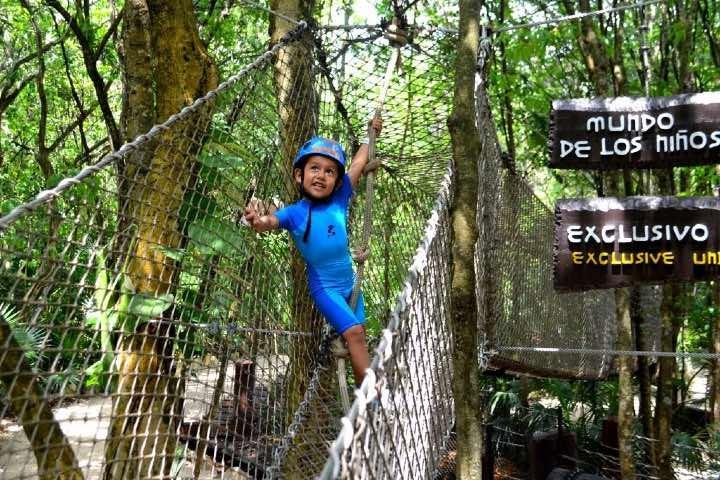 Los niños también pueden disfrutar de la aventura y adrenalina Foto Xplor | Facebook