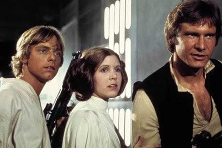 Luke y Leia Saga Star Wars.