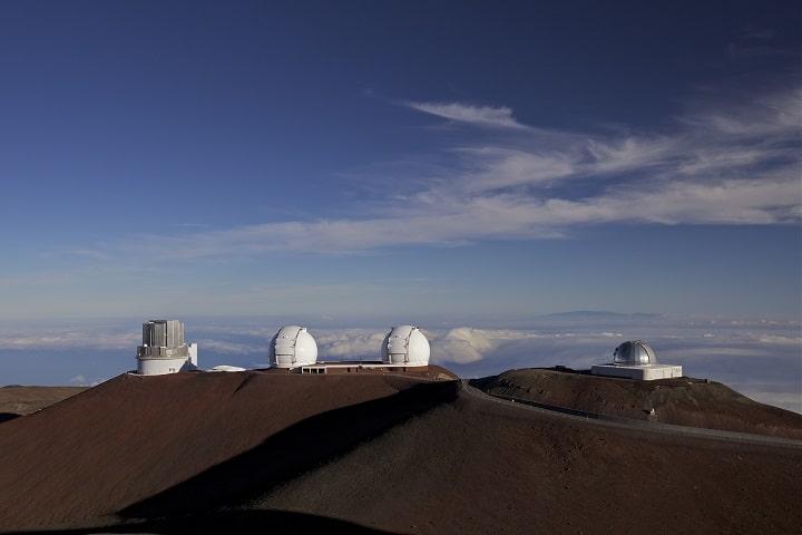 Podemos ver los Observatorios en una ladera del volcán. Foto: Archivo.