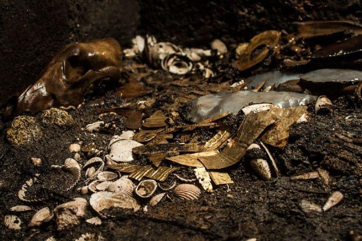 Ofrendas Prehispanicas encontradas. Foto: INAH