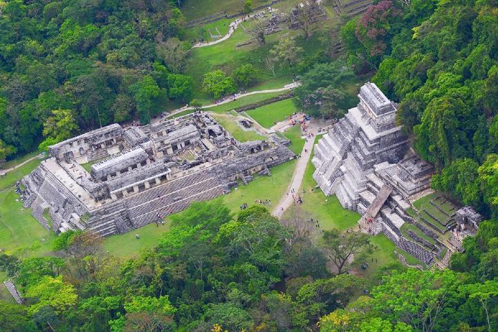 Palenque vista desde un Dron. Foto: Gobierno de México.