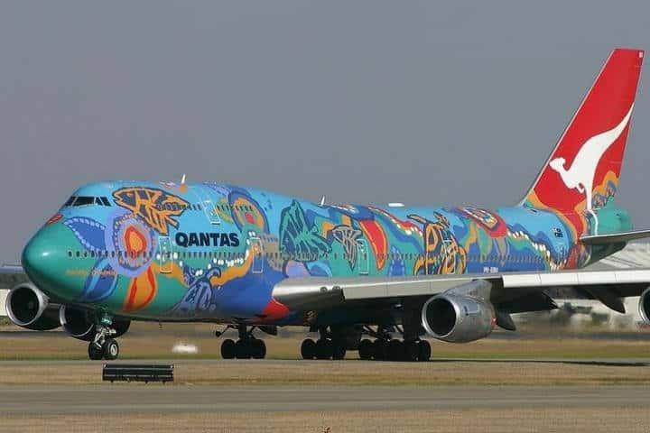 Qantas - Aviones pintados Foto- Velimir Bonesi
