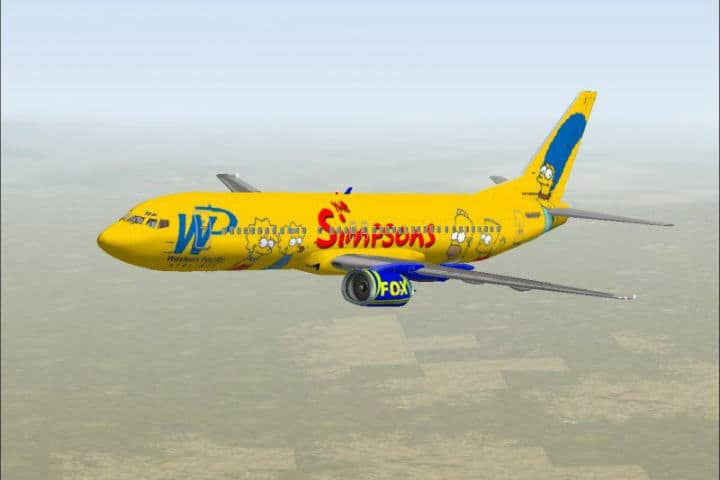 The Simpsons de Western Pacific Airlines - Foto avsim