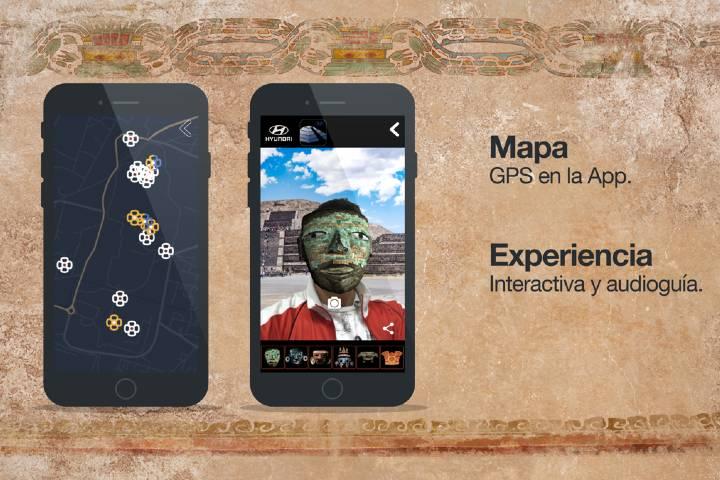 Aplicación Explore Teotihuacán Foto: CARMANÍA