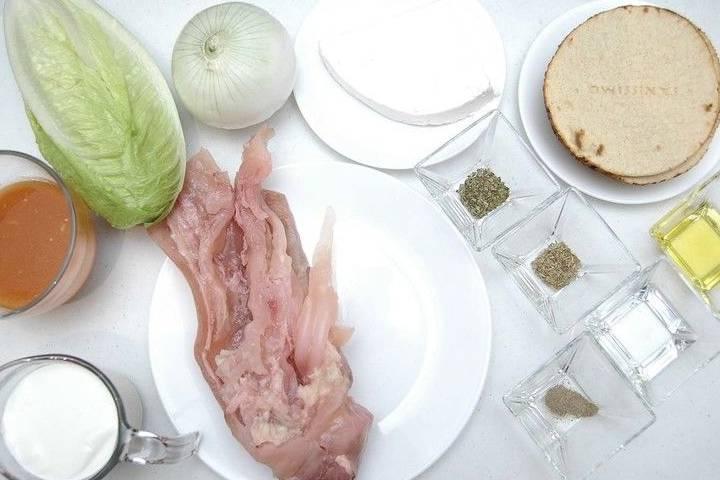 Ingredientes de receta de tostada de pata Foto: Cocina y comparte Archivo