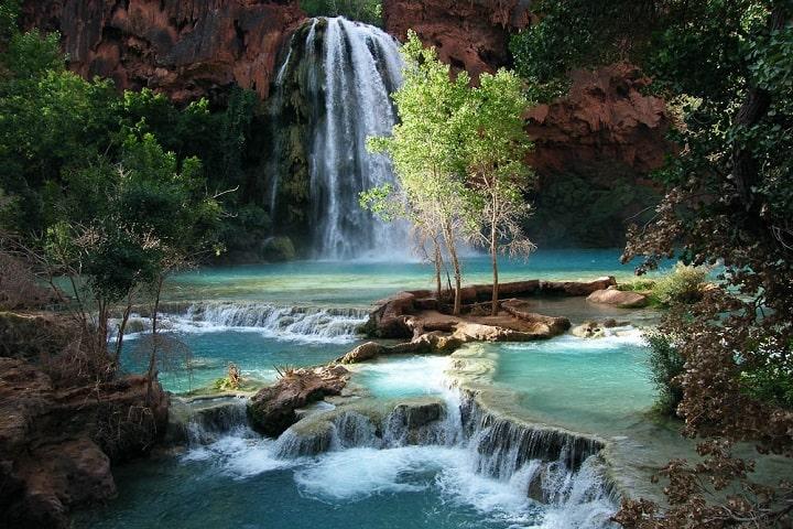 ¿No se te antoja refrescarte en las aguas de las cascadas? Foto: Archivo