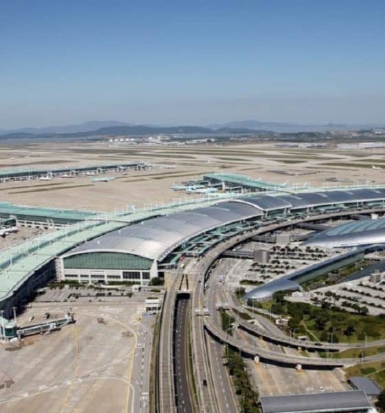 Admira la vista que tiene el Aeropuerto de Incheon en Corea del Sur. Foto: Megaconstrucciones