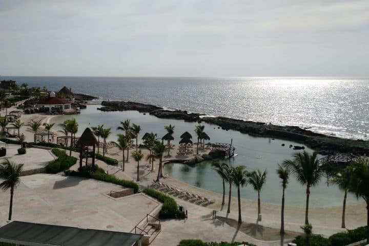 Amanecer desde la terraza superior en Hard Rock Hotel Riviera Maya Foto: Alberto Ramírez