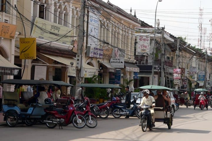 Calle principal de Siem Reap. Foto: Wikipedia.