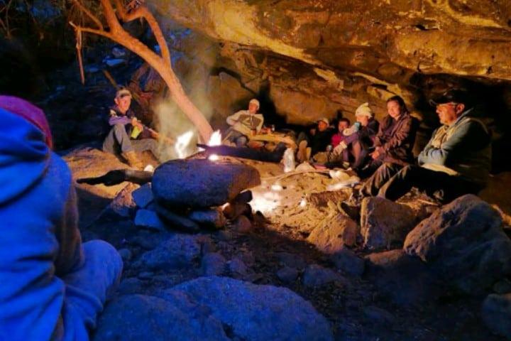 Campamento en Peña del Aire Foto: Pedro D. Rivera   Facebook