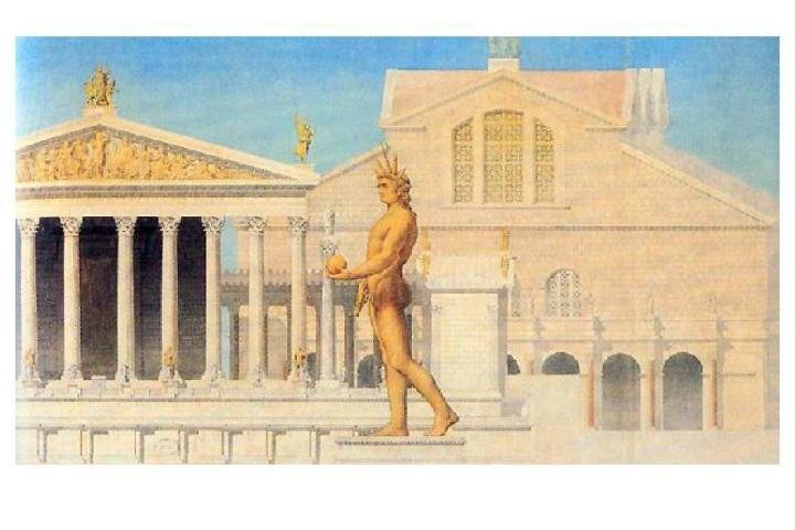 El Coloso de Nerón, custodiando por siempre la plaza del Anfiteatro. Foto: Archivo.