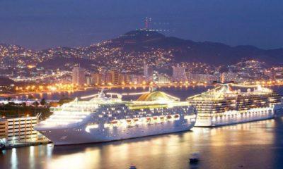 ¡Qué impresionante se ve el crucero en la costa de Acapulco! Foto: Anews