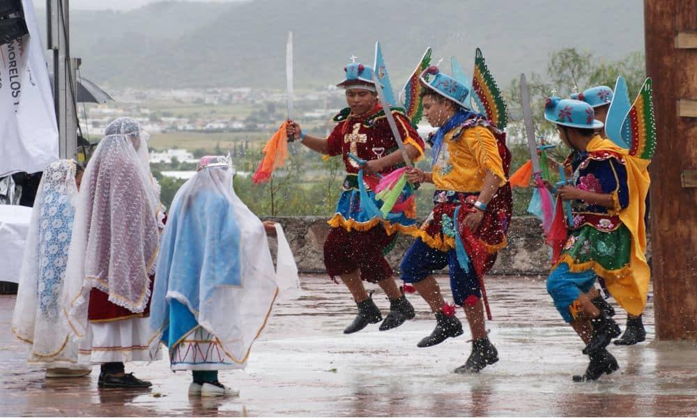 Danza de los migueles Foto: Secretaría de Cultura Puebla _ twitter