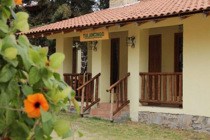 Una hermosa fachada de la cabaña Tulancingo, ¿No lo crees? Foto: José Eduardo