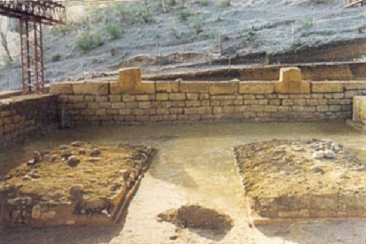 El patio hundido del Recinto. Foto: Archivo histórico del INAH.