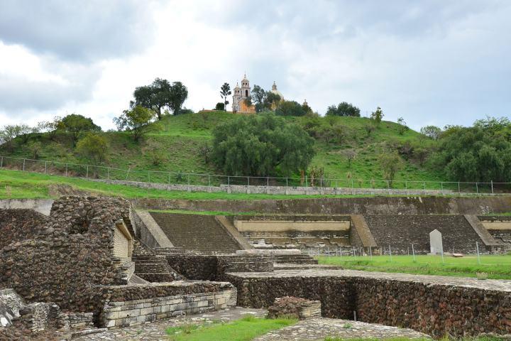 La Pirámide de Cholula es la más extensa del mundo, pero no la más alta. Foto: INAH