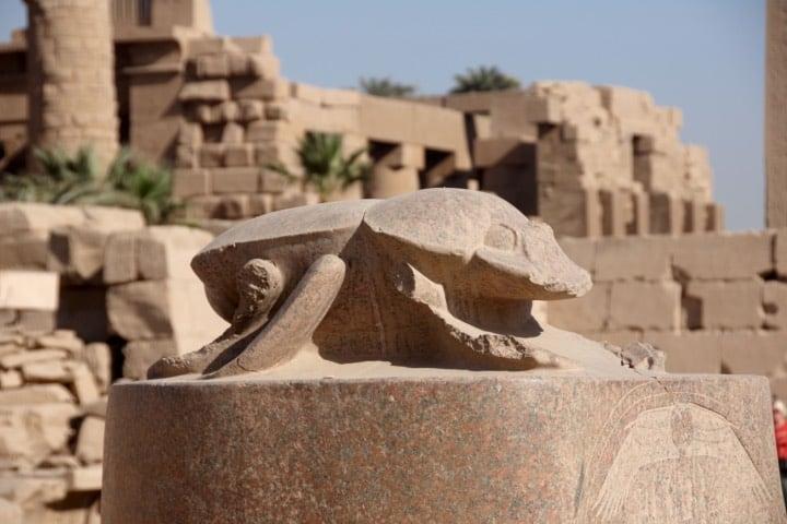 Escarabajo del templo de Karnak Foto: Archivo