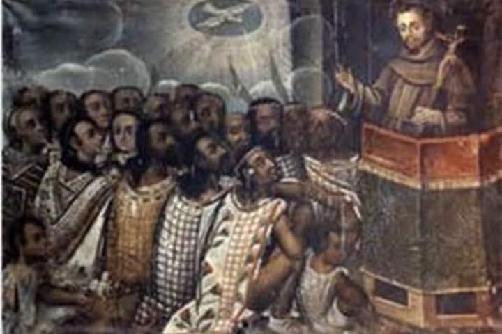 Evangelización de Indígenas en Ex Hacienda de Guadalupe. Foto: Jesuitas México.