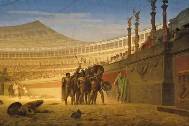 Últimas peleas de gladiadores. Foto: Archivo