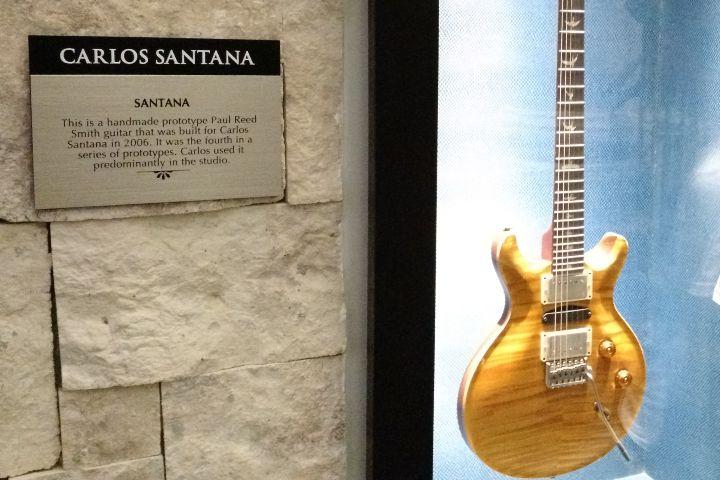Guitarra de Santana Foto: Alberto Ramírez