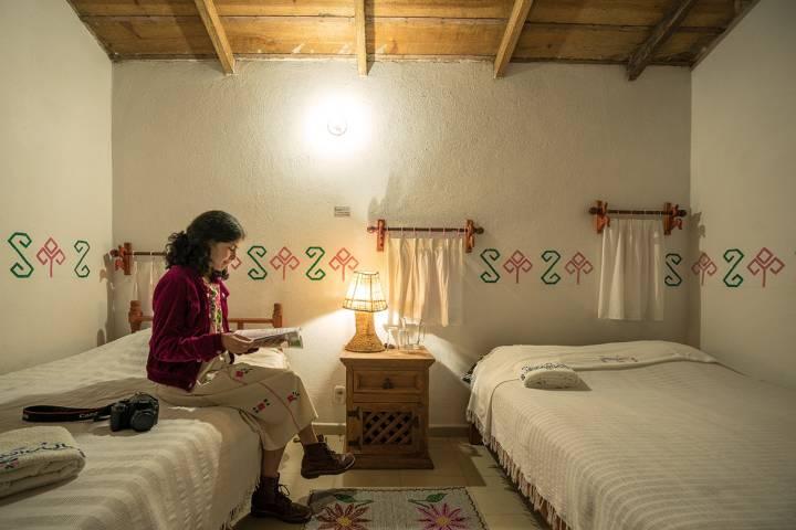 Habitación doble Hotel Taselotzin Foto Fernando Sosa Macip