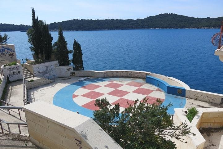 Justo aquí se filmó esa escena (Dubrovnik). Foto: Liz Lawley.