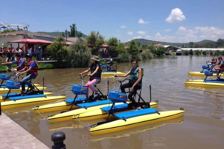 Hydrobikes Foto: Parque Bicentenario Querétaro