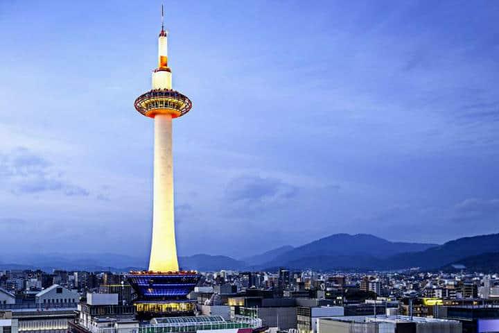 Lugares mágicos en Kioto. Tower Kyoto. Foto Klook