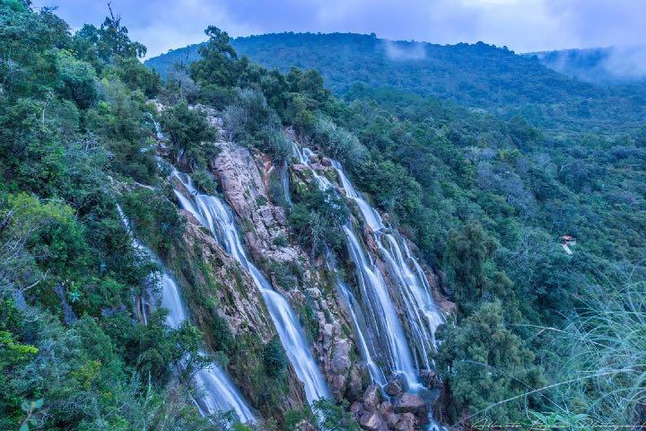 La Cascada Esmeralda es parte del Parque Natural Yosondúa Foto: Alberto Lopez