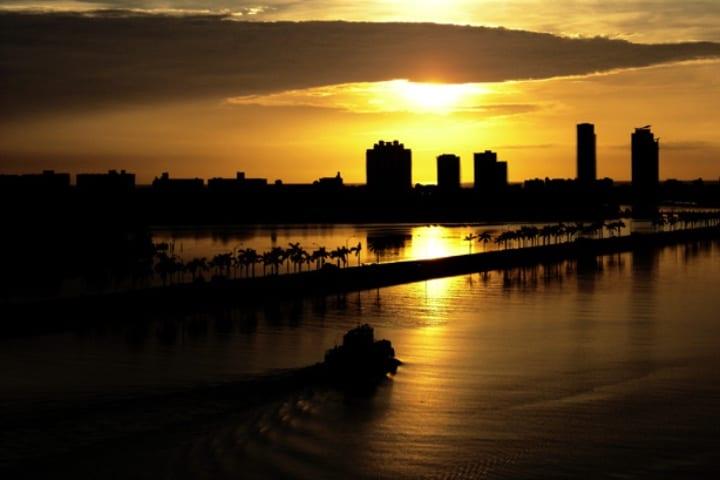 La vista desde el Puerto de Miami es una postal Foto: liss_mcbovzla