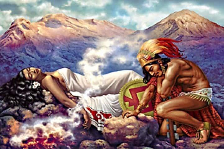 Leyenda de amor entre Popocatépetl e Iztaccíhuatl. Foto: Fayer Wayer.