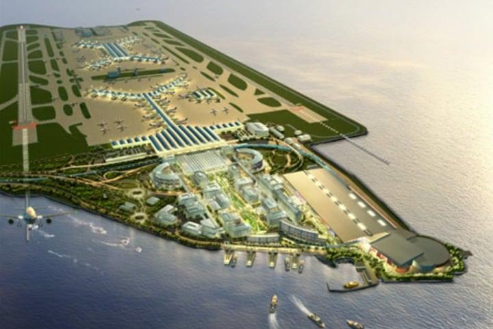 Modelo del Aeropuerto Internacional de Hong Kong. Foto: SOM.