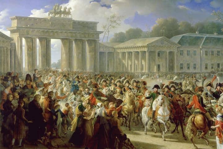 Napoleón Bonaparte en la Puerta de Brandeburgo: Foto: Culture & Touring Berlin.