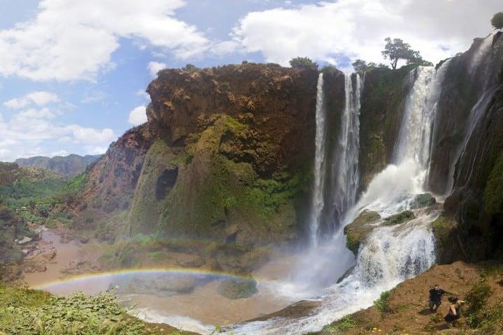 Otra hermosa foto de la cascada de Ouzoud. Foto: Living Marruecos.