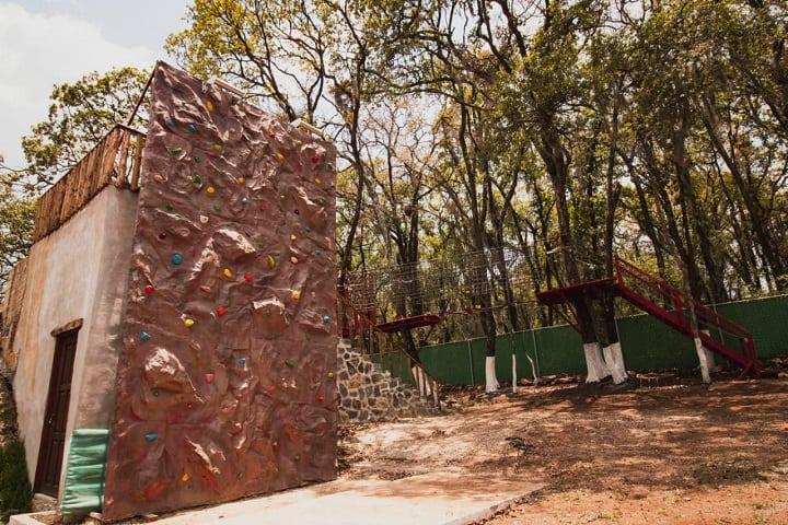 Pared de escalada del Ecoparque. Foto: José Eduardo
